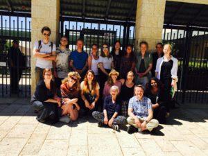 5-11-16 Children of Abraham minus Jesper in front of Shalom Hartmann