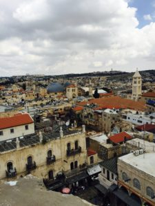 View from David's Tower toward Church of the Redeemer Jerusalem 5-7-16